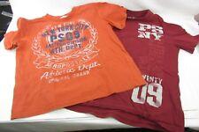 2 Lot - Tshirts AEROPOSTALE P.S. Size Small 8 Youth Boys, orange & maroon