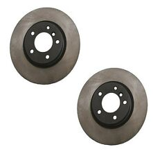 Set of 2 Black Rotors Coated Front Left & Right For BMW M3 & Z3