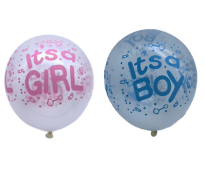 6 x Its a Boy/Girl! Latex Pink or Blue baby Shower Party Celebrations Balloons