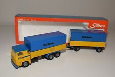 S TEKNO SCANIA 141 PROMOTIONAL WERBE TRUCK WITH TRAILER NEAR MINT BOXED