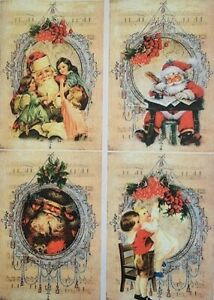 Rice Paper for Decoupage Scrapbook Craft Christmas Santa Claus 145