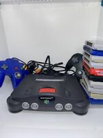 Nintendo N64 System Console Bundle - 11 Games, 2 Controllers, Wires, Expansion