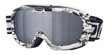 DIRTY DOG SCOPE GOGGLES SKI SNOWBOARDING WHITE FLORAL PATTERN MIRROR LENS 54125
