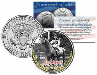 SEABISCUIT * An American Legend * Racehorse Colorized JFK Half Dollar U.S. Coin