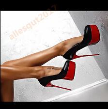 Nachtclub Damenschuhe Pumps High Heels 16cm Platform Sexy Stiletto Gr.34-40 Top