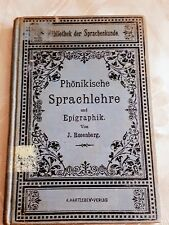 A rare Original German book from 1906 J. Rosenberg language epigraphy