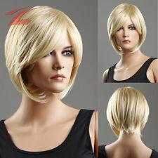 COOL Kurzhaar Damen Perücke Weiblich Blond Glatt Kurz Wigs Cosplay Kostüm Party