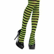 Damas Verdes Negro Medias Rayadas Bruja Halloween Calcetines