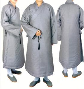 High quality monk clothes winter shaolin kung fu dress yongchun robe dress