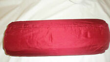 45CM JOHN LEWIS RED 100% SILK BOLSTER ROUND PIPED EDGES  PILLOW CUSHION COVER
