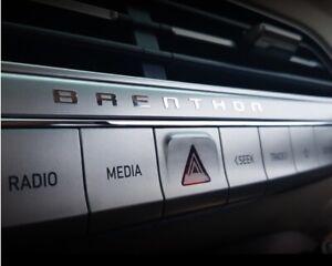 BRENTHON Letterring Metal Sticker For Hyundai Santa fe Sonata Kia Stinger G80