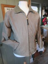 Superb Genuine Gent's Green cotton Puffa jacket, double zip, size S.