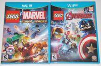 Nintendo Wii U Game Lot - LEGO Marvel Super Heroes & LEGO Avengers (New) Wii U