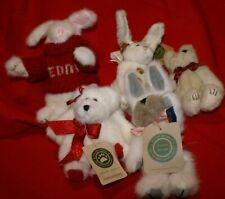 Lot of 5 Bears and Bunnies Stardust,Red Sweater Teddy,Faith Angelbeary