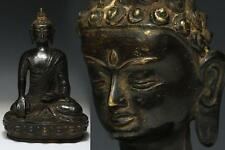 Chinese Old Buddha Bronze Statue / Mark on Bottom / W 17× D11.5 × H 25 [cm]