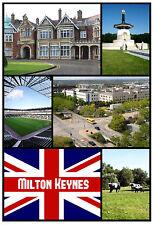 MILTON KEYNES - SOUVENIR NOVELTY FRIDGE MAGNET - SIGHTS - GIFT - XMAS - NEW