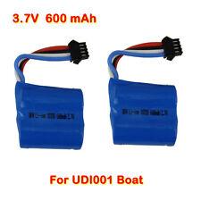 2pcs 3.7V 600mAh OEM Li-ion Battery Spare For UDI RC UDI001 Speed Boat Toys USA