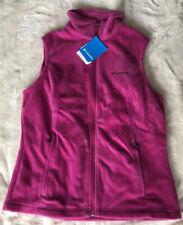 Columbia Fleece Vest Womens M Pink Full Zip NWT