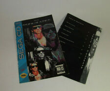 Terminator Sega CD Original Instruction Manual Booklet Book **READ** Authentic