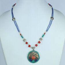 Himalayan Lapis Lazuli,Red Coral & Turquoise Tibetan Handmade Necklace NN-9674