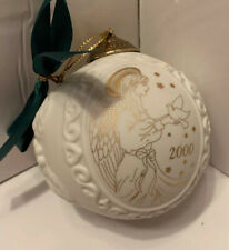Angel, Snow Dove Ornament Wedgwood 2000 Porcelain Bisque Ball