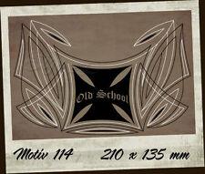 Pinstriping Aufkleber/Sticker 114 2-farbig Vinyl Iron Cross Old School Malteser