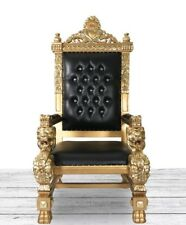 Lion King Throne Chair. Black And Gold Majestic Egyptian Gothic Scarface  Throne