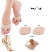 1 Pair of FootTrek Fabric Metatarsal Silicone Gel Cushioning Ball of Foot Pads