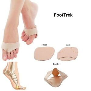 FootTrek Gel Metatarsal Fabric Cushioning Support Ball of Foot Pads Pain Relief