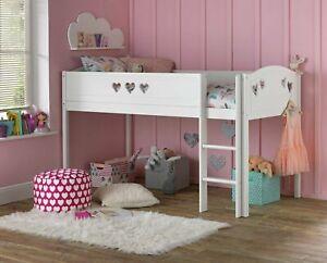 Home Mia Mid Sleeper Bed Frame - White