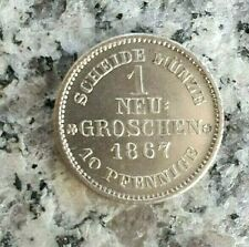 1 Neugroschen 1867 B Dresden Sachsen - Johann 1854-1873.
