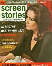 Elizabeth Taylor cover SCREEN STORIES magazine 1965 DELL