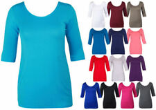 3/4 Sleeve Stretch Tops & Blouses for Women