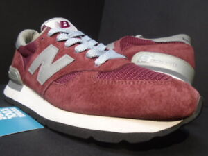 2013 NEW BALANCE M990BD 990 DEEP BURGUNDY RED OFF WHITE GREY SILVER 9.5