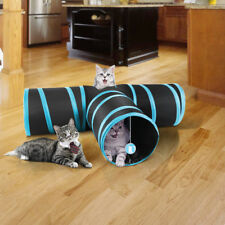 Collapsible Cat Tunnel 3 Way Tunnel Rabbit Training Toy pet Play Tube With Ball