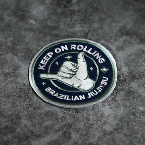 Shaka Keep On Rolling Jiujitsu BJJ Patch (9cm)