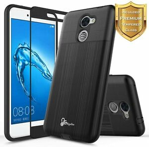 For Huawei Ascend XT2 Case, Shockproof Phone Cover + Tempered Glass Protector