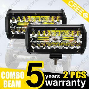 3/4/5/6/7/12 inch LED Work Light Bar Flood Spot Beam Offroad 4WD SUV Fog Light