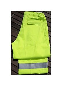 """Alsico Farlane Protection Flame Retardant Hi-Vis Trousers With Knee Pockets W30"""""""