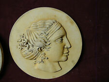 Olimpia wife of Filip wall relief stone sculpture tile home garden decor art
