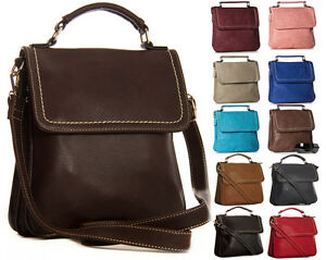 Womens Designer Top Handle Multi Pocket Small Satchel Shoulder Cross-Body Bag