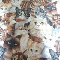 "Vintage Cat Portrait Owen Fashion Print Blanket Full Twin Size 72""x 90""  USED"