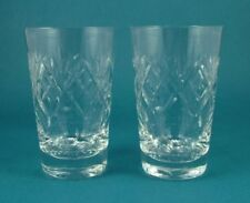 Tumbler Hand Blown Vintage Original Crystal & Cut Glass