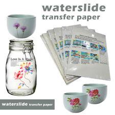 10x A4 Inkjet Water Slide Decal Paper Clear Waterslide Printing Transfer Paper