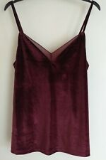Velvet Cami Top Burgundy OYSHO Large