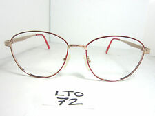 Vtg 80s Liberty Round Eyeglass Frame Wy-14-2 Gold Red Japan (Lto-72)