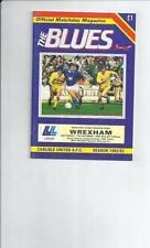 Away Teams S-Z Wrexham Division 3 Football Programmes