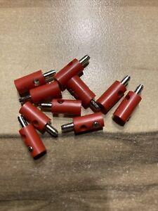 ***Modellbahn Querlochstecker  2,6mm - Rot - 10 Stück - 0,21 € Stk***