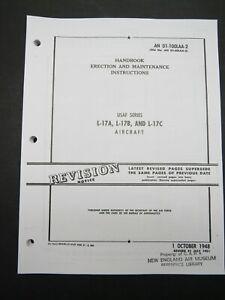 1951 Air Force Navion L-17 A/B/C 135pg Erection & Maintenance Manual