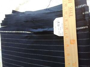 """H Lesser Navy 13oz Chalk stripe 5.5 metres L x 60"""" W"""